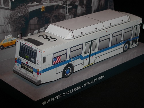 New York City Bus - New Flyer rear
