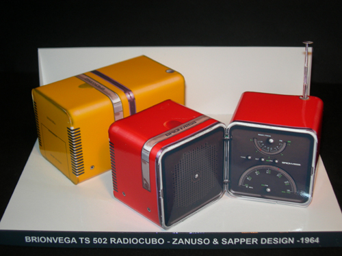 Brionvega TS 502 Radiocubo - Zanuso & Sapper design - Papercrafts.it