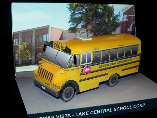 Thomas Vista School Bus Paperdiorama Donwload Free