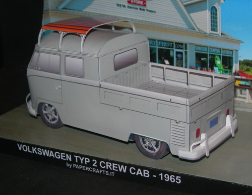 Vw Crew Cab low rider - Papercrafts.it