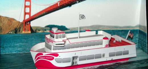 Harbor Princess Paper Model Diorama