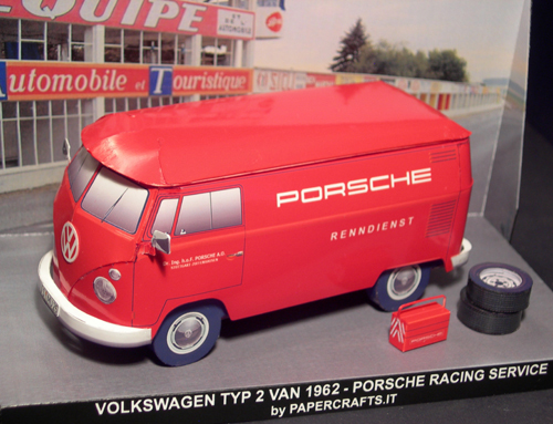 Paper Model: VW Typ 2 Van Porsche