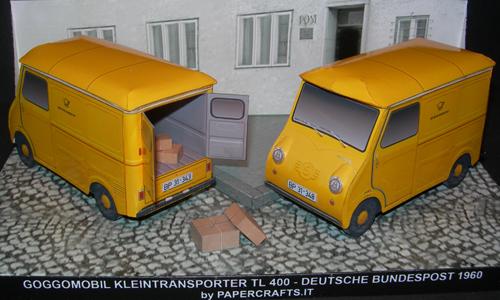 Goggomobil Transporter Tl Van Paper Diorama Paperdiorama