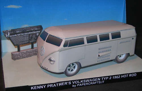 VW Typ 2 1962 - Hot Rod Paper Model