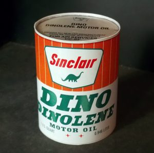 Sinclair motor oil vintage can papercraft