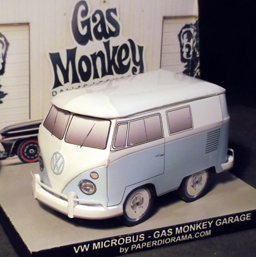 Vw gas monkey garage custom paper model paperdiorama for Garage vw illkirch