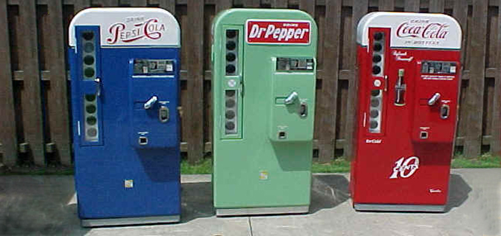 Pepsi & Pepper Soda machines