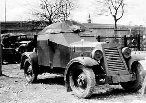 Old scout car Adler Kfz.13