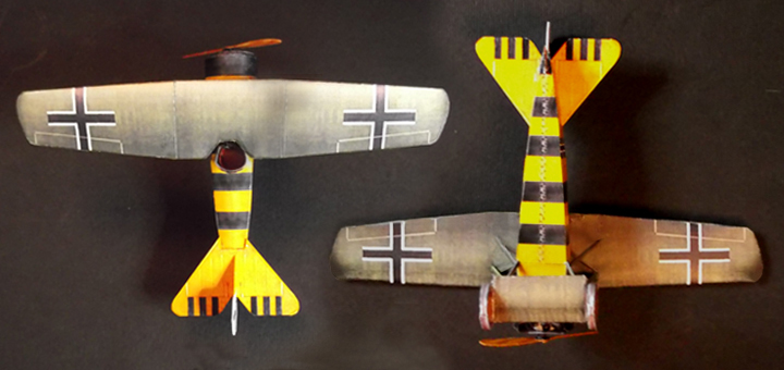 Fokker E.V paper model (1/64 scale)