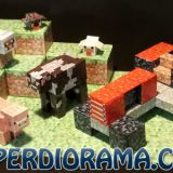Minecraft Papercraft 3D Farm Set by PAPERDIORAMA