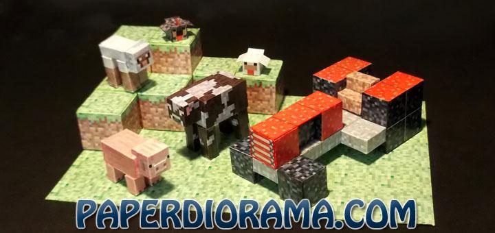 Minecraft Papercraft 3D Farm Set by PAPERDIORAMA
