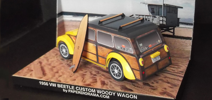 VW woody back view