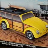 Volkswagen Beetle 1956 Custom Woody Wagon - Paper Model