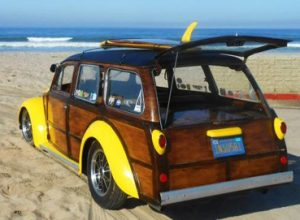 The original VW Woody - Back view