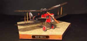 RAF (Royal Aircraft Factory) SE5 A paper model (1/64 scale)