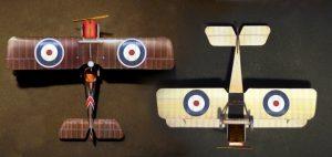 RAF SE5 A paper model (1/64 scale)