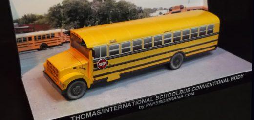 Schoolbus paper model