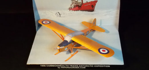 Taylorcraft Auster Antarctic paper model (1/72 scale)