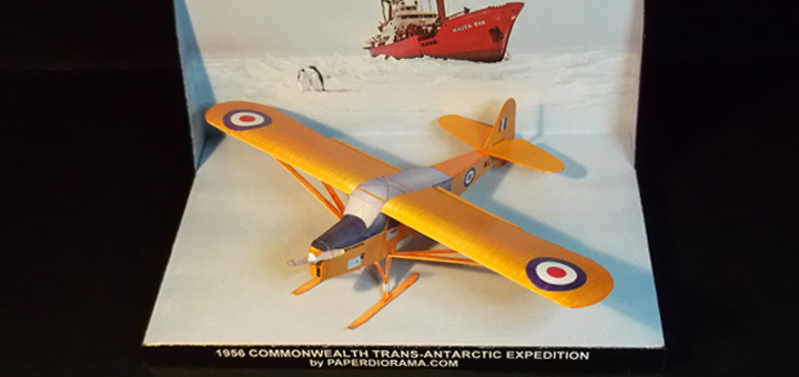 Taylorcraft Auster Antarctic paper model (1/72 scale)